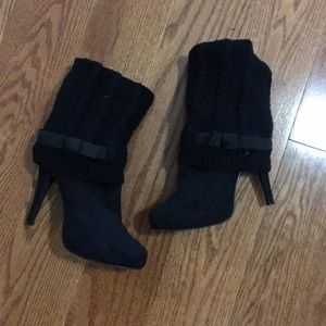 Fold Over Heeled Boots